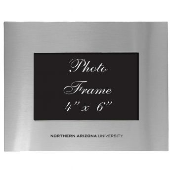Northern Arizona University - 4x6 Brushed Metal Picture Frame - Silver