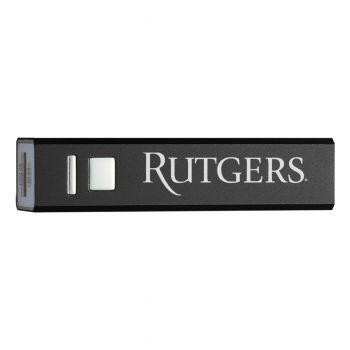 Rutgers University - Portable Cell Phone 2600 mAh Power Bank Charger - Black
