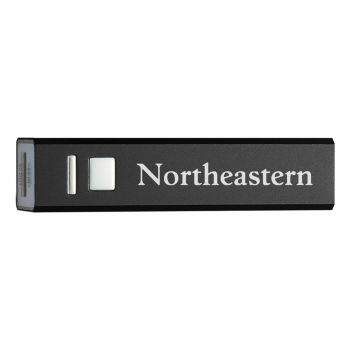 Northeastern University - Portable Cell Phone 2600 mAh Power Bank Charger - Black