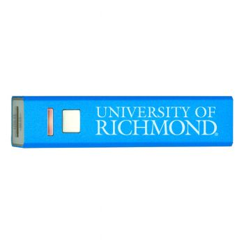University of Richmond - Portable Cell Phone 2600 mAh Power Bank Charger - Blue
