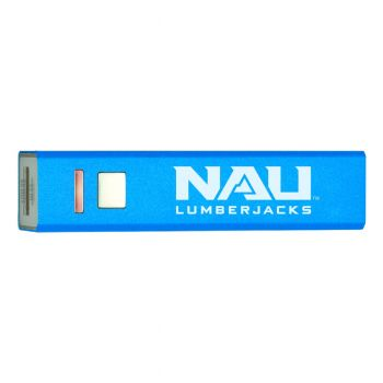 Northern Arizona University - Portable Cell Phone 2600 mAh Power Bank Charger - Blue