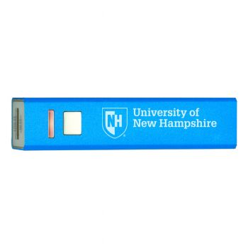 University of New Hampshire - Portable Cell Phone 2600 mAh Power Bank Charger - Blue