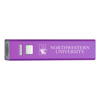Northwestern University - Portable Cell Phone 2600 mAh Power Bank Charger - Purple