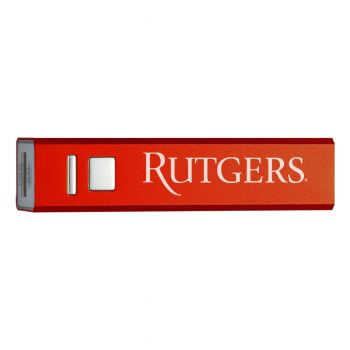 Rutgers University - Portable Cell Phone 2600 mAh Power Bank Charger - Red