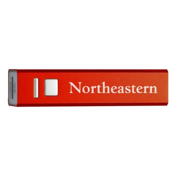 Northeastern University - Portable Cell Phone 2600 mAh Power Bank Charger - Red