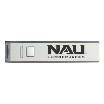 Northern Arizona University - Portable Cell Phone 2600 mAh Power Bank Charger - Silver