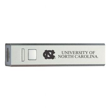 University of North Carolina - Portable Cell Phone 2600 mAh Power Bank Charger - Silver