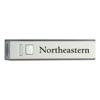 Northeastern University - Portable Cell Phone 2600 mAh Power Bank Charger - Silver