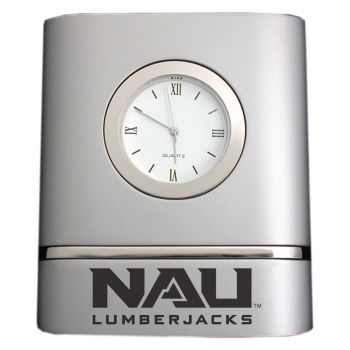 Northern Arizona University- Two-Toned Desk Clock -Silver