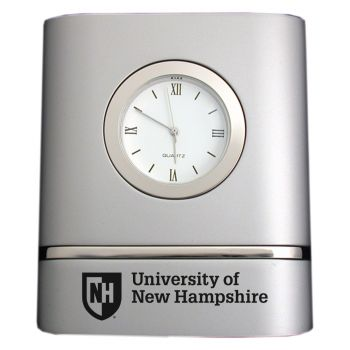University of New Hampshire- Two-Toned Desk Clock -Silver
