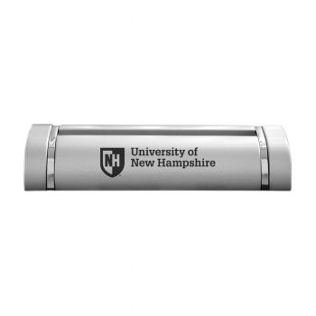 University of New Hampshire-Desk Business Card Holder -Silver