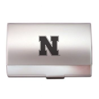 University of Nebraska??Lincoln - Two-Tone Business Card Holder - Silver
