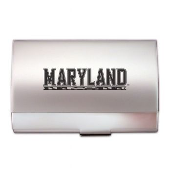 University of Maryland, College Park - Two-Tone Business Card Holder - Silver