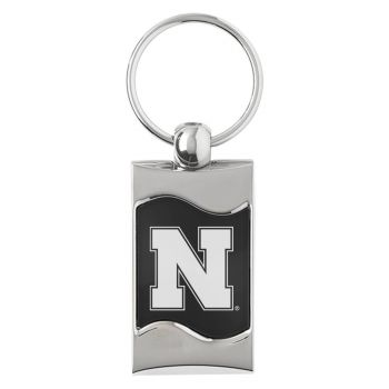 University of Nebraska - Wave Keytag - Black