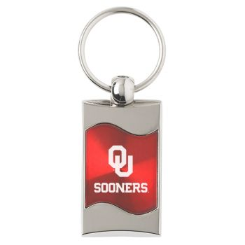 University of Oklahoma - Wave Key Tag - Red