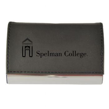 Velour Business Cardholder-Spelman College-Black