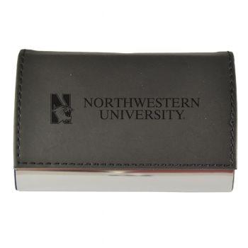 Velour Business Cardholder-Northwestern University-Black
