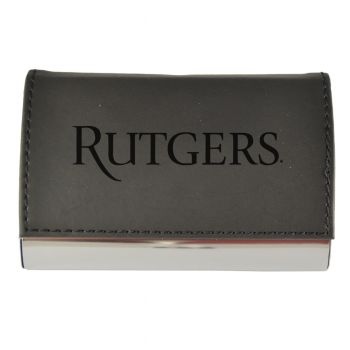 Velour Business Cardholder-Rutgers University-Black