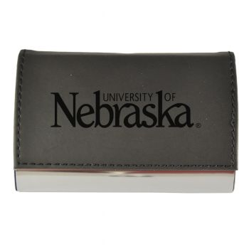 Velour Business Cardholder-University of Nebraska-Black