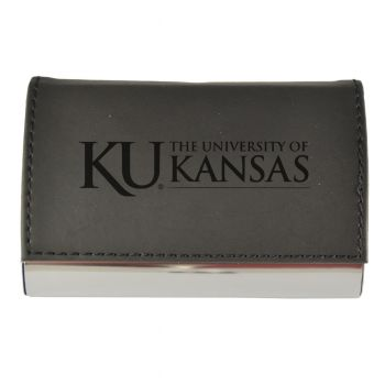 Velour Business Cardholder-The University of Kansas-BLK