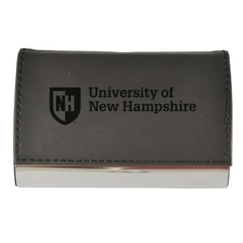 Velour Business Cardholder-University of New Hampshire-Black