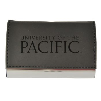 Velour Business Cardholder-University of The Pacific-Black