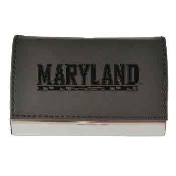 Velour Business Cardholder-University of Maryland-Black