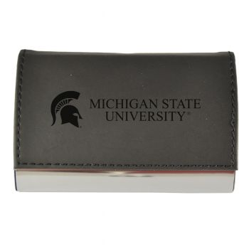Velour Business Cardholder-Michigan State University-Black