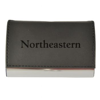Velour Business Cardholder-Northeastern University-Black