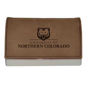 Velour Business Cardholder-University of Northern Colorado-Brown