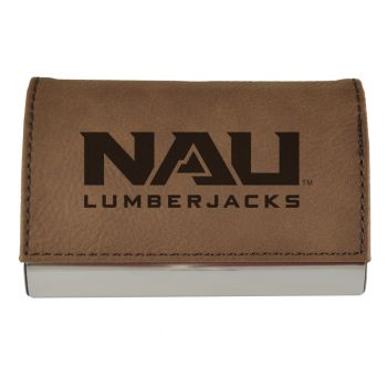 Velour Business Cardholder-Northern Arizona University-Brown