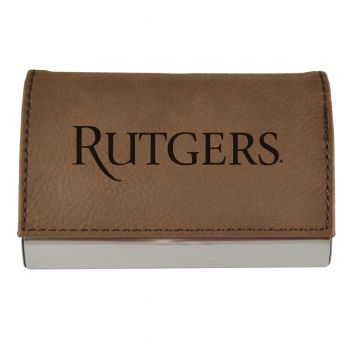Velour Business Cardholder-Rutgers University-Brown