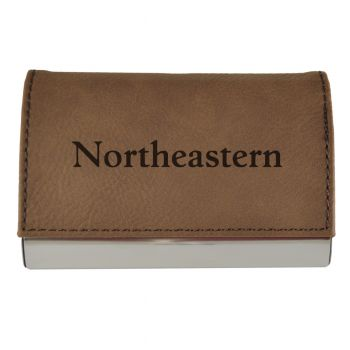 Velour Business Cardholder-Northeastern University-Brown