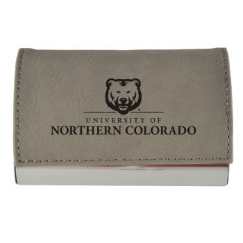 Velour Business Cardholder-University of Northern Colorado-Grey