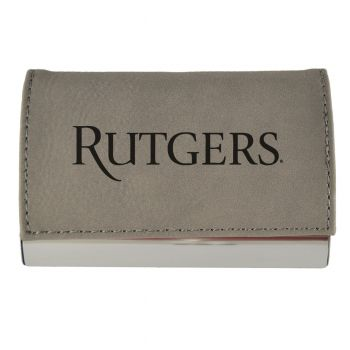 Velour Business Cardholder-Rutgers University-Grey