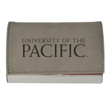 Velour Business Cardholder-University of The Pacific-Grey