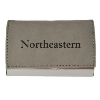 Velour Business Cardholder-Northeastern University-Grey