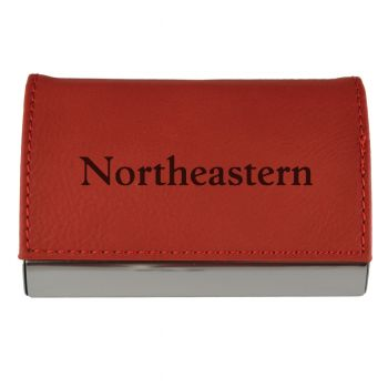 Velour Business Cardholder-Northeastern University-RED