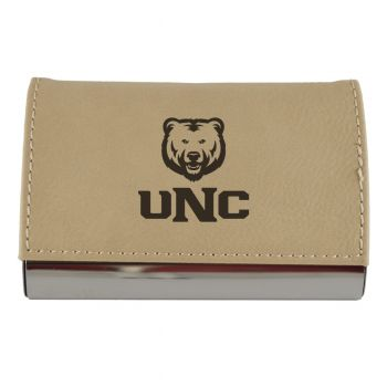 Velour Business Cardholder-University of Northern Colorado-Tan