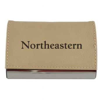 Velour Business Cardholder-Northeastern University-Tan