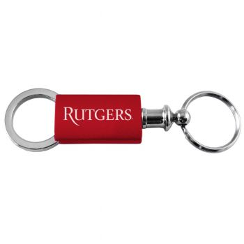 Rutgers University - Anodized Aluminum Valet Key Tag - Red
