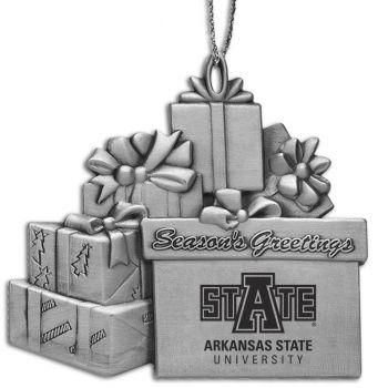 Arkansas State University - Pewter Gift Package Ornament