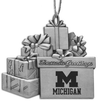 University of Michigan - Pewter Gift Package Ornament
