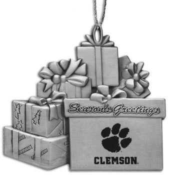 Clemson University - Pewter Gift Package Ornament