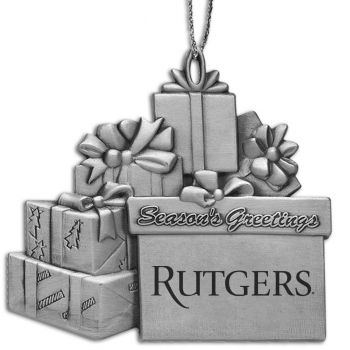 Rutgers University - Pewter Gift Package Ornament