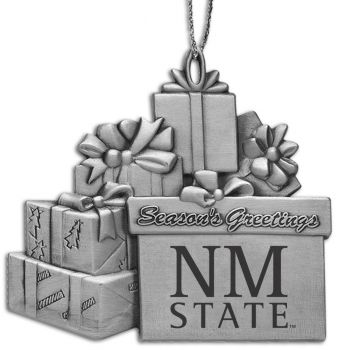 New Mexico State University - Pewter Gift Package Ornament