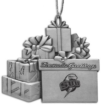 Southern Utah University - Pewter Gift Package Ornament
