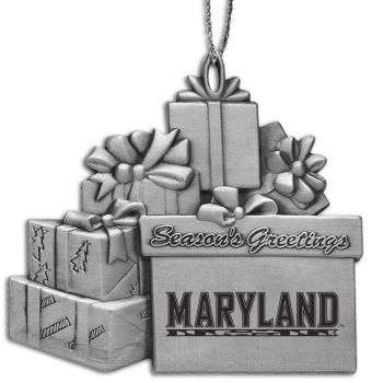 University of Maryland - Pewter Gift Package Ornament