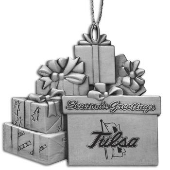 University of Tulsa - Pewter Gift Package Ornament