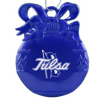 Pewter Christmas Bulb Ornament - Tulsa Golden Hurricanes